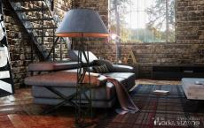 Modern Floor Lamps Can Brighten Your Industrial Loft