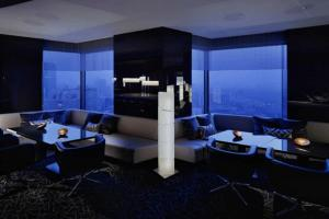 Modern Futuristic Dark Bar Interior Design
