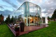 Modern Glass Wall House Home Interior Design Kitchen