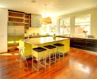 Modern Kitchen Recessed Lighting Bright Green Color