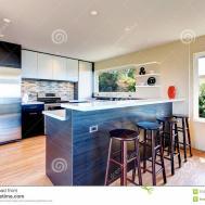Modern Kitchen Room Design Royalty Stock