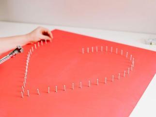 Modern String Art Heart
