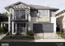 Modern Suburban House Bigstock