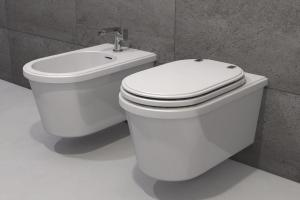 Modern Toilet Bidet Theos Wall Mounted