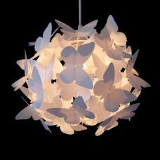 Modern White Butterflies Ceiling Pendant Light Lamp Shade