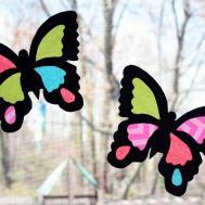 Moomama Diy Suncatcher Butterflies