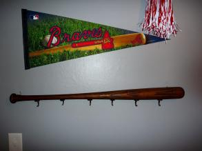 Myself Crafts Baseball Bat Coat Rack
