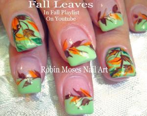 Nail Art Tutorials Diy Easy Fall Leaves Design