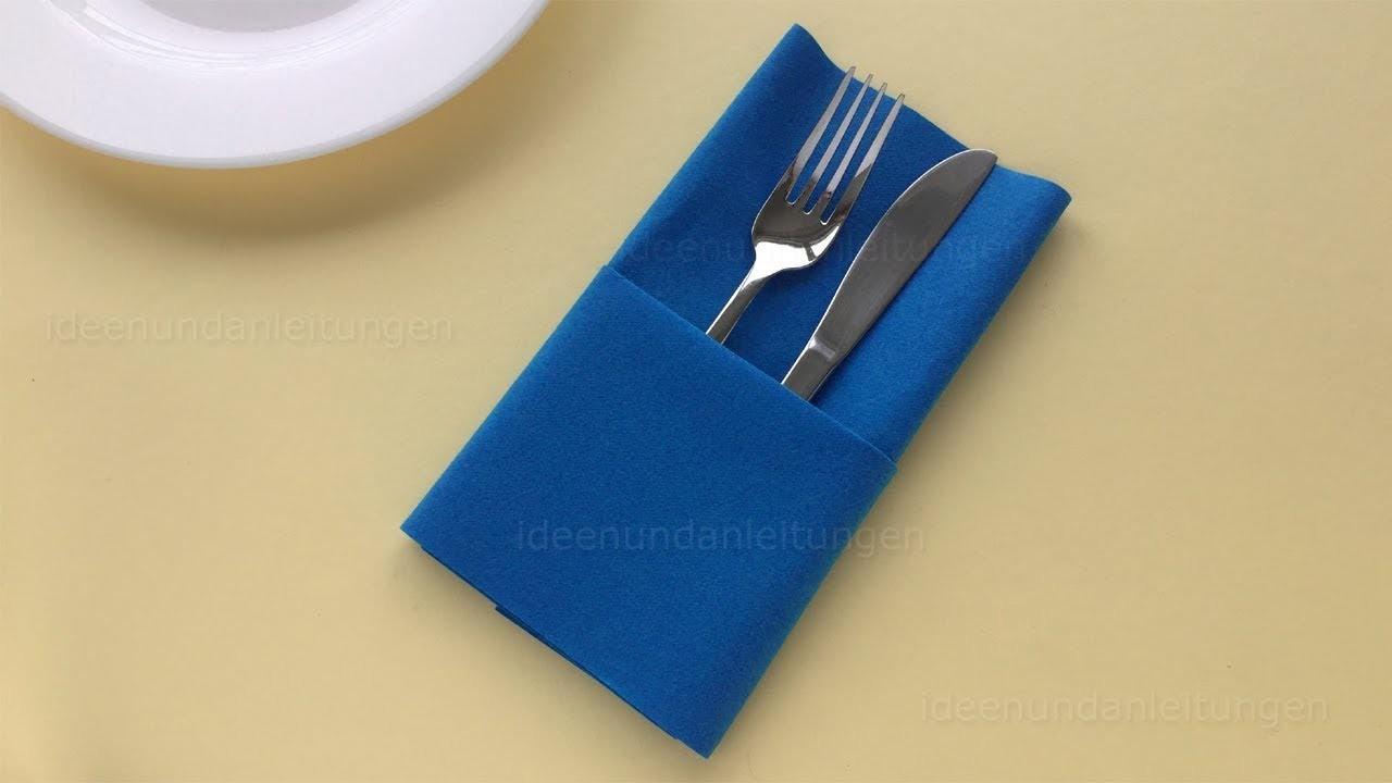 napkin folding pocket easy way fold napkins diy