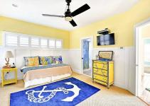 Nautical Kids Bedroom Blue Yellow White Decoist