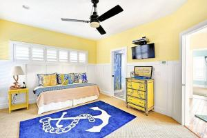 Nautical Kids Bedroom Blue Yellow White Decoist