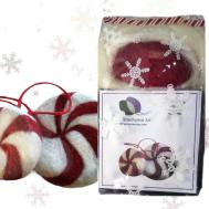 Needle Felting Kit Diy Craft Peppermint Candy Wool