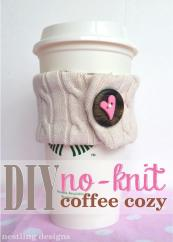 Nestling Diy Knit Coffee Cozy