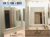 New Bathroom Mirrors Diy Frame Around Mirror