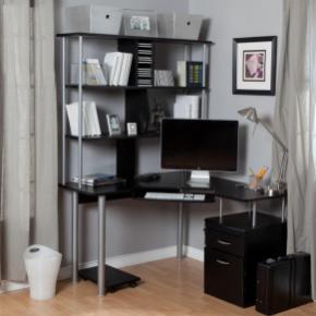 New Black Corner Desk Home Office