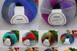New Chunky Baby Wool 50g Ball Rainbow Colorful Knitting