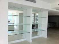 New Design Space Saver Corner Glass Polished Custom