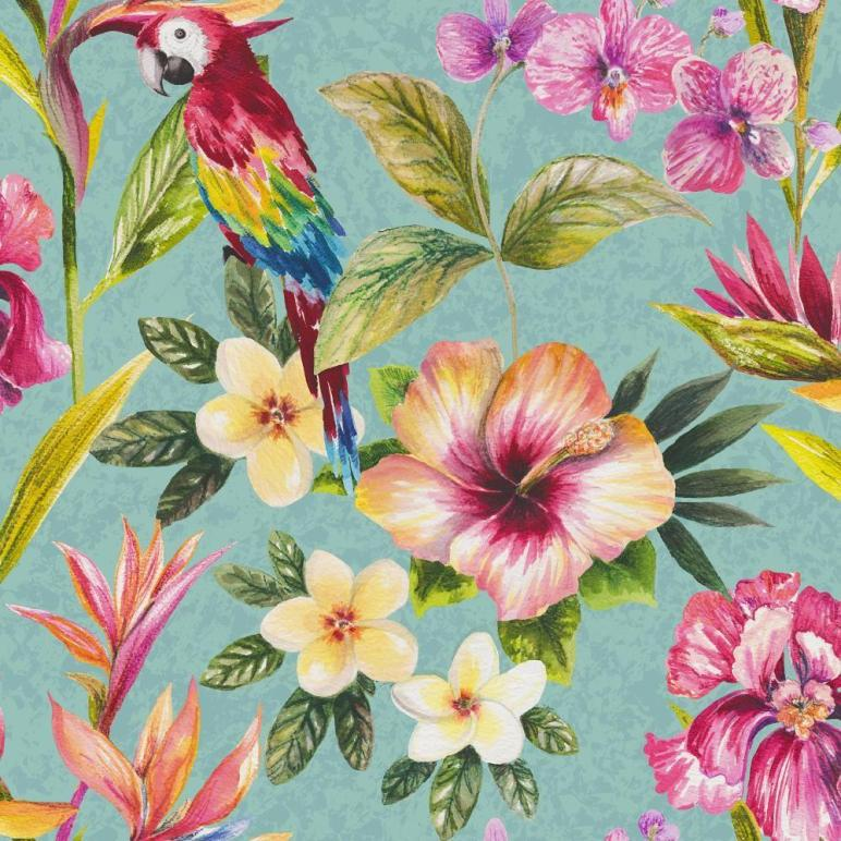 New Holden Cor Bird Paradise Floral Pattern Flower