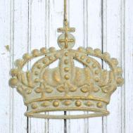 New Shabby Cottage Chic French Rustic Crown Hanging