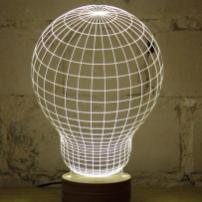 Novelty Unique Illusion Bulb Lamp Night Light Usb Table