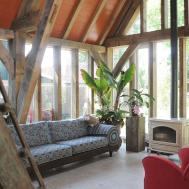 Oak Framed Extension Netherlands Eikenhouten Huis