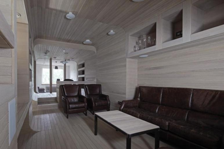 Oak Tube Apartment Peter Kostelov Arch2o