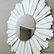 Only Scratch Sunburst Mirror Wooden Shims