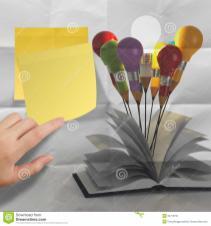 Open Book Light Bulb Idea Concept Royalty