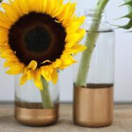 Open Door Diy Gold Dipped Vases