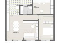 Open Social Zone Sits Heart Tiny Apartment