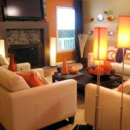 Orange Blue Living Room Accessories Modern House