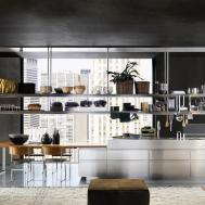 Organized Kitchen Space Stainless Steel Racks Interior