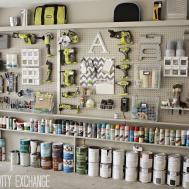 Organizing Garage Diy Pegboard Storage Wall