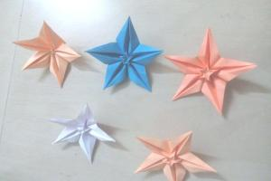 Origami Fold Pointed Stars