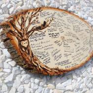 Original Design Wood Slice Rustic Theme Wedding Guest Books
