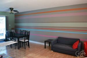 Our Striped Accent Wall Madness Method