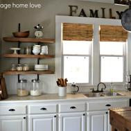 Our Vintage Home Love Reclaimed Wood Kitchen Shelving