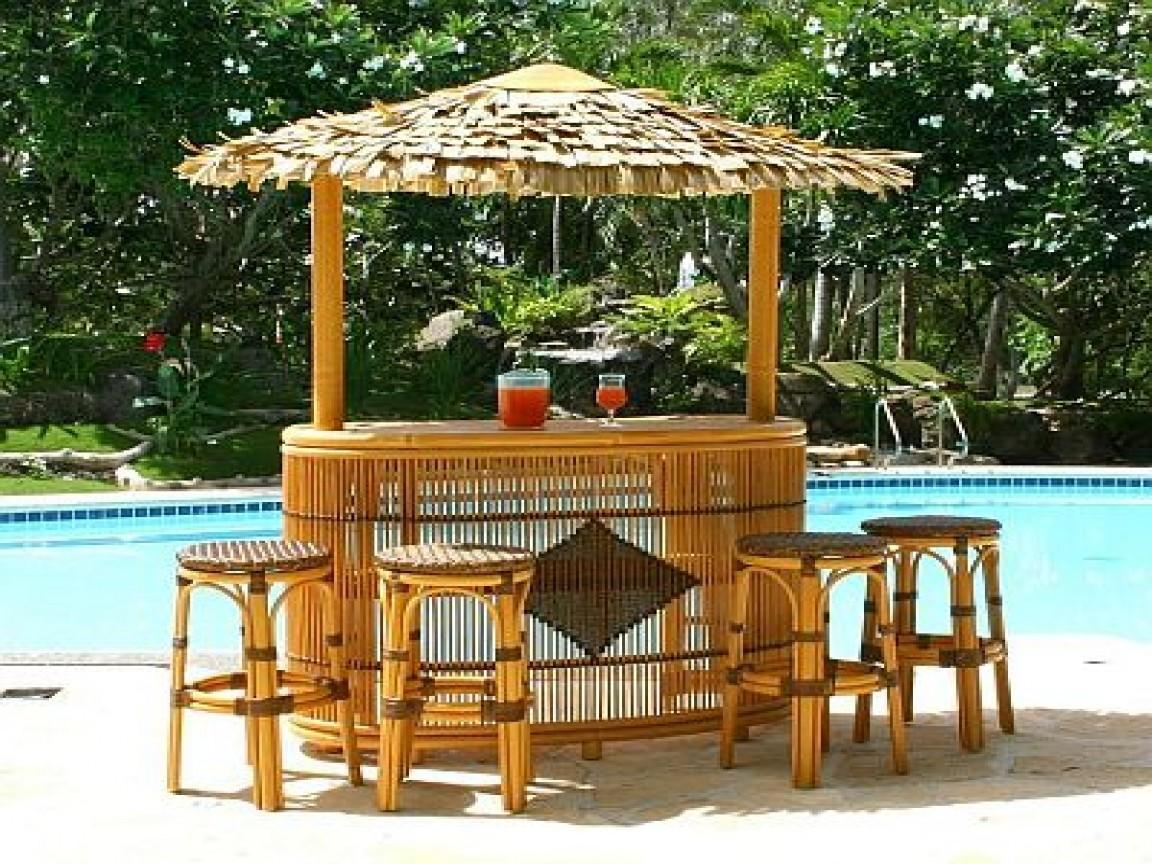 Outdoor Bars Furniture Tiki Bar Ideas Around Pool ... on Backyard Pool Bar Designs  id=22349