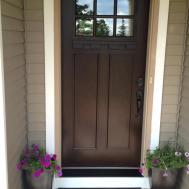 Painting Exterior Front Door Black