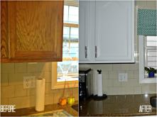 Painting Kitchen Cabinets Before After Car Interior