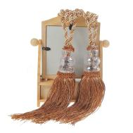 Pair Crystal Beaded Tassel Tie Tiebacks Home Windows