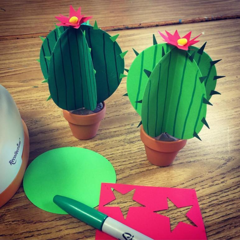 Paper Cactus Art Projects Kids