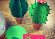 Paper Cactus Art Projects Kids