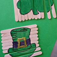 Patrick Day Popsicle Stick Craft Diy Puzzles