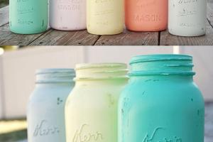 Pauper Diy Painted Mason Jars