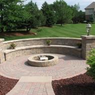 Paver Stone Patio Fresh Inspiration Backyard Fire