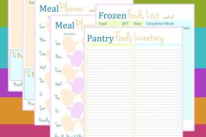 Personal Planner Meal Printables Mitten