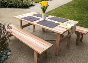 Picnic Table Bench Plans Amarillobrewing