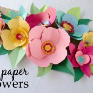 Pics Photos Diy Paper Crafts Tutorials Flower Fans Garland