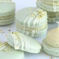 Pistachio French Macarons Ganache Cupcake Savvys